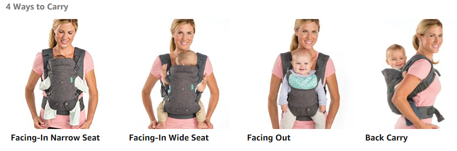 Flip 4-In-1 Converteerbare Carrier, Baby Carrier Infant Wrap Sling Carrying