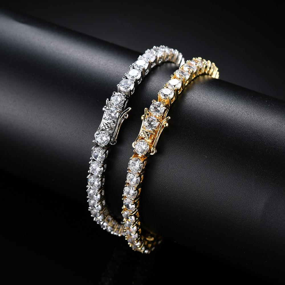 European Copper Jewelry Silver Gold Colors <strong>Tennis</strong> Chain <strong>Bracelet</strong> Hips Hops Pave Crystal Cubic Zirconia <strong>CZ</strong> <strong>Tennis</strong> <strong>Bracelet</strong>