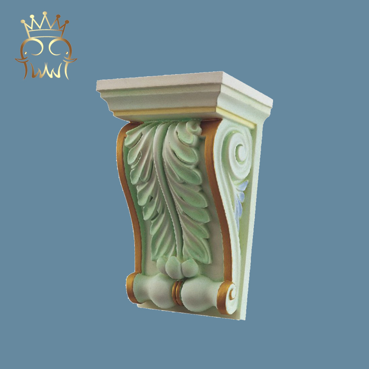 High Density Cheap decorative foam hand carved Polyurethane corbels