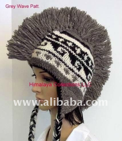 Mohawk Hand Knitted Wool Hat 92907345ae6