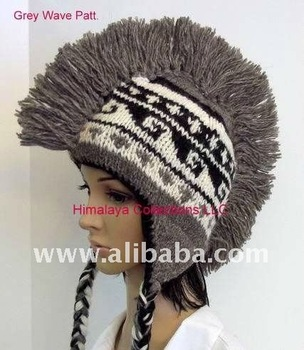 Mohawk Hand Knitted Wool Hat 5588672fb666