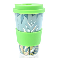 2019 Amazon hot selling Feistel Factory Reusable bamboo fiber cup wholesale biodegradable coffee cup accept custom