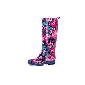 Top selling plastic half tall rain boots for woman