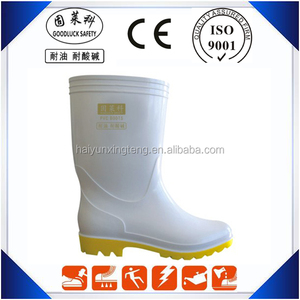 PVC White Boots for Milk Industry Cheap PVC Rainboots