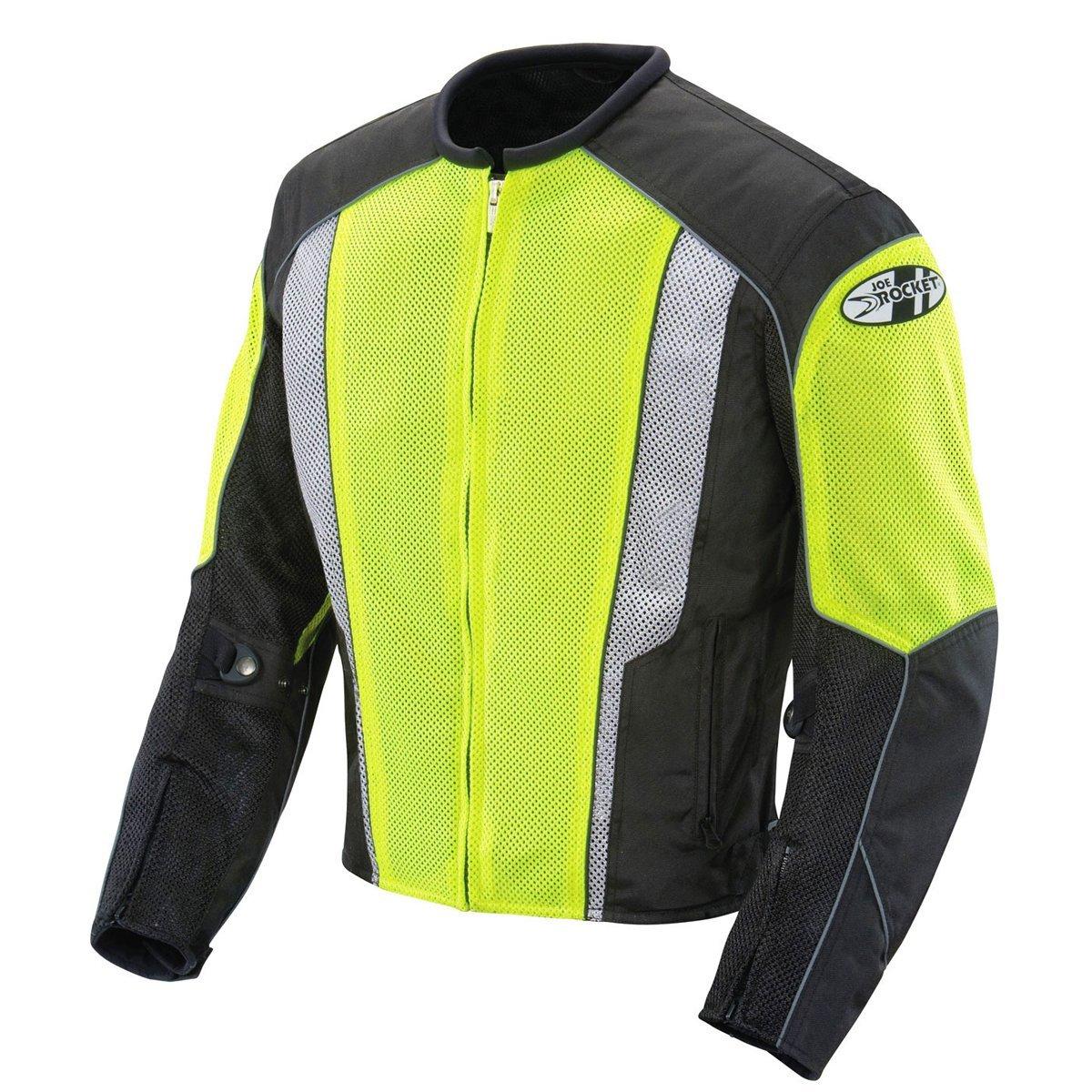 Joe Rocket Phoenix 5.0 Mens Neon/Black Mesh Motorcycle Jacket - X-Large