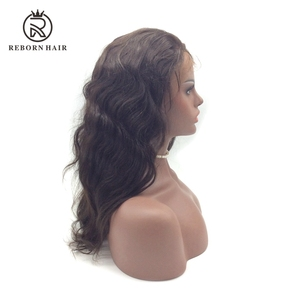 High Quality Brazilian Full Half Lace Front Wig,natural wave