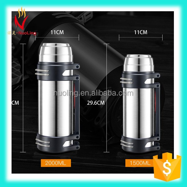 The large capacity Wide mouth stainless steel vacuum travel pot