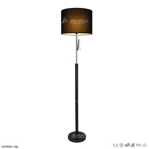 new styles c1409 fe5d3 Modern black cordless led floor lamp with black fabric shade HXF4031-1BL