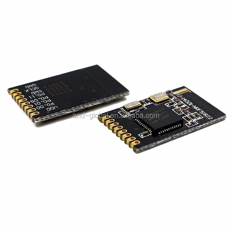 1pc Nordic BLE sensor nRF51822 2.4G wireless module for Xbee ble4.0 small size SMD transceiver,NRF51822-QFAA 256k flash/16K RAM