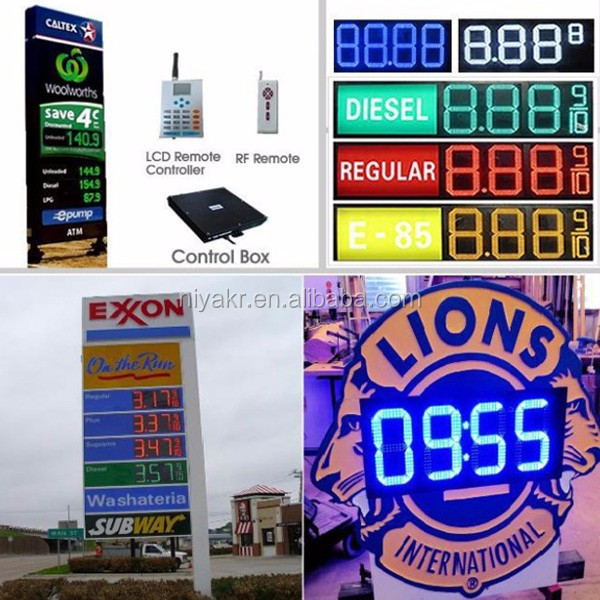 2017factory price cheap Led Numeric Display and gas sign in alibaba