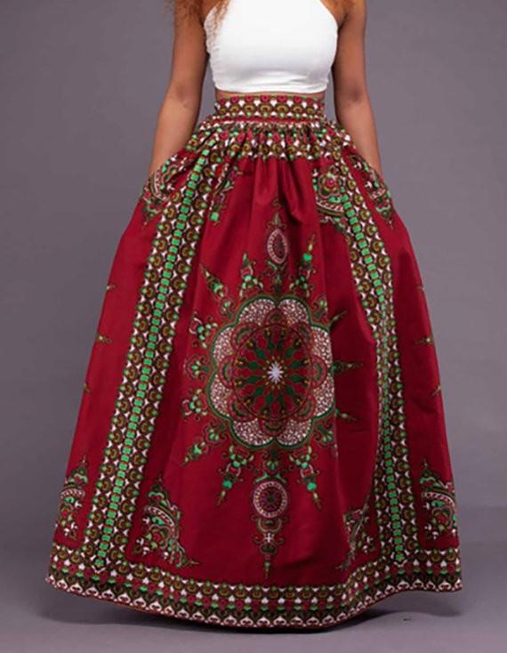 Neueste Afrikanischen Print Lange Röcke Wachs Drucken Dashiki Kleid ...