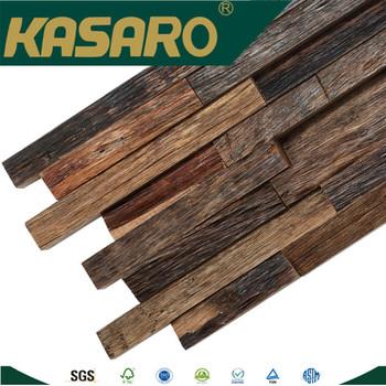 Rustic 40d Art Solid Wood Wall Decorative Panel Solid Wood Mosaic Simple Decorative Wood Wall Tiles