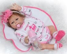 Кукла новорожденная NPK 52 см, силиконовая Реалистичная кукла с тканевой подкладкой, игрушка для новорожденной девочки в подарок(Китай)