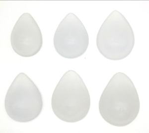 New Fashion Transparent Drop shape Hight Quality Fake Boobs Real Silicone Curve back Breast Form