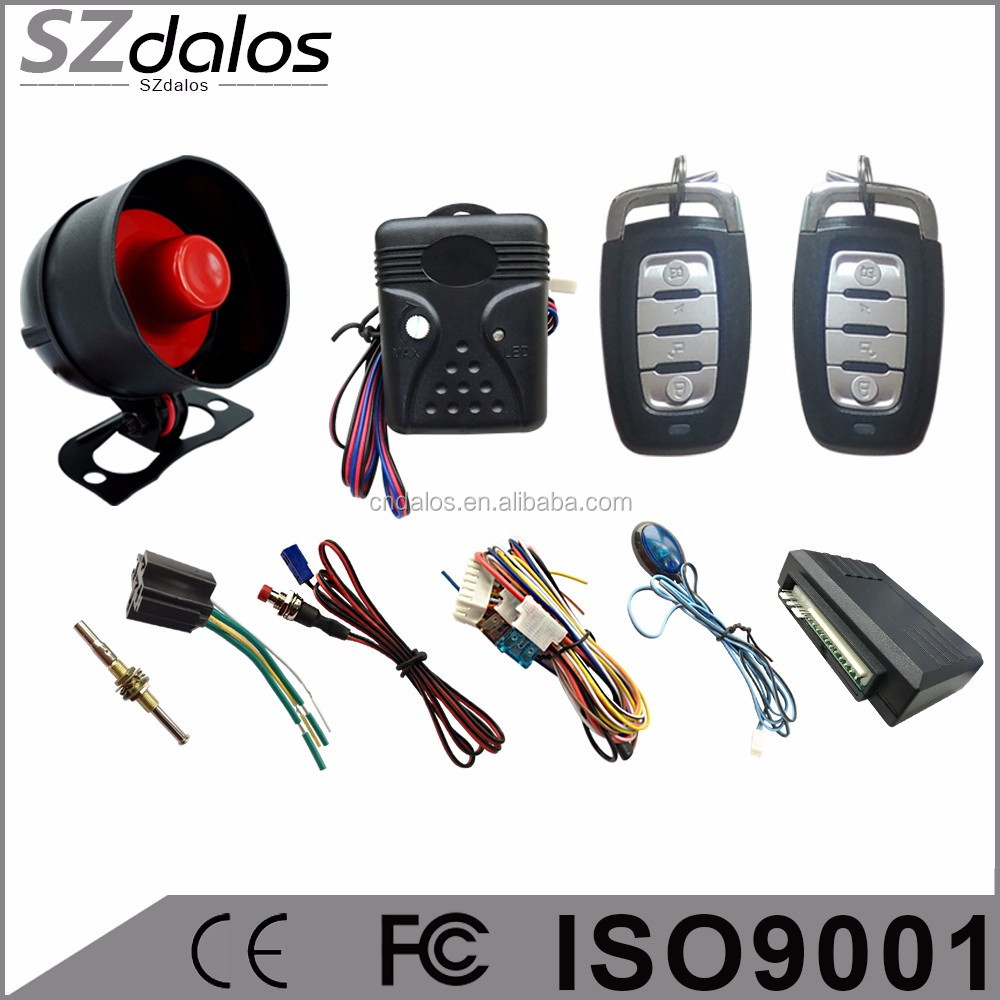 High quality one way car alarm car Alarm system with keyless entry function