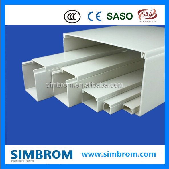 200*100mm big cable trunking pvc wire casing