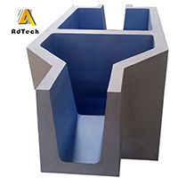 Ceramic transition plate for matching aluminum billet casting machine