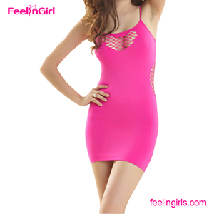 Latest Rose Red Bodycon Sling Dress Japanese Mature Women Lingerie Sexy
