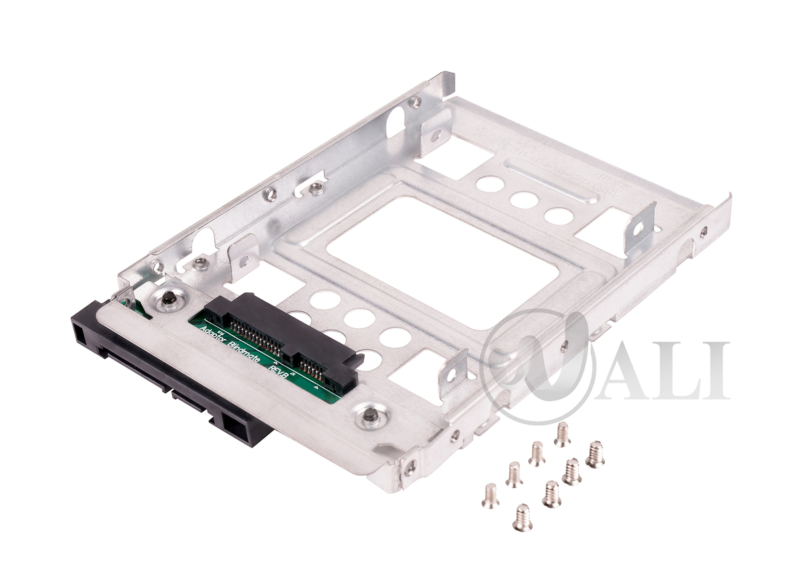 """WALI 2T3 SSD To 3.5"""" Sata Hard Disk Drive HDD Adapter Caddy Tray Cage Hot Swap Plug Converter Bracket Compatible with All The 3.5"""" SAS/SATA Drive Caddie Trays for HP Dell IBM Lenovo"""