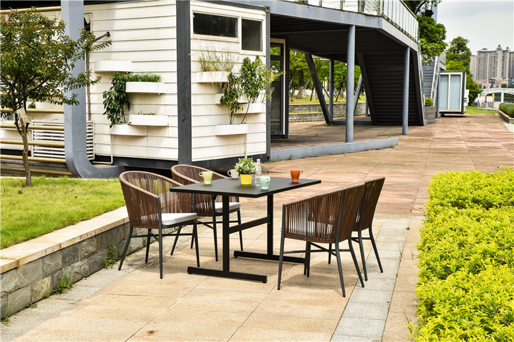 In stock new design dining tables and chairs outdoor restaurant furniture