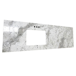 Polished Andromeda White Granite Countertops Low Price