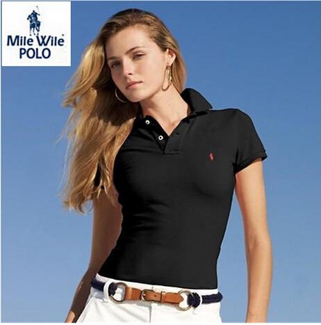 Rl2015 летний стиль небольшая лошадь логотип женщин поло рубашки с коротким рукавом бренд женская одежда твердые поло ralp свободного покроя спортивные рубашки