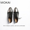 mk141 black lace up real leather ladies fancy shoes