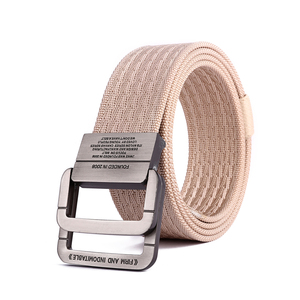 Custom Printed Tactical Nylon Military Web Belt For Men With Double Ring Buckle