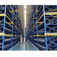 Warehouse storage stacking folding metal commercial tire rack,pallet type racking tire storage rack,tire display rack