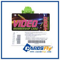 Plastic custom Snap-off card /Plastic barcode key tags(CR80+1 keytag)