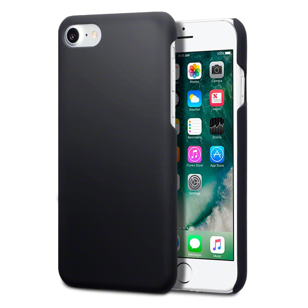 iPhone 8 / iPhone 7 Case - Terrapin iPhone 8 Cover - Ultra Slim Fit Hybrid - Hard Case Protection - Rubberized Finish - Black
