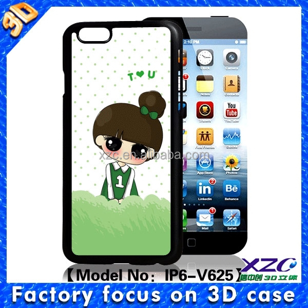 2016 gift under 1 dollar cute girl design 3D case for huawei ascend p7