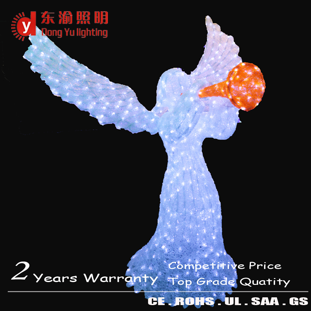 Christmas Outdoor Decorations 3d Ice Angel Sculpture Led Motif Light Buy Outdoor Christmas Led Sculpture Lightled 3d Angel Motif Lightled 3d Angel