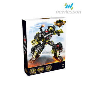 cool bricks fighting robots shape building blocks toys wholesale for kids