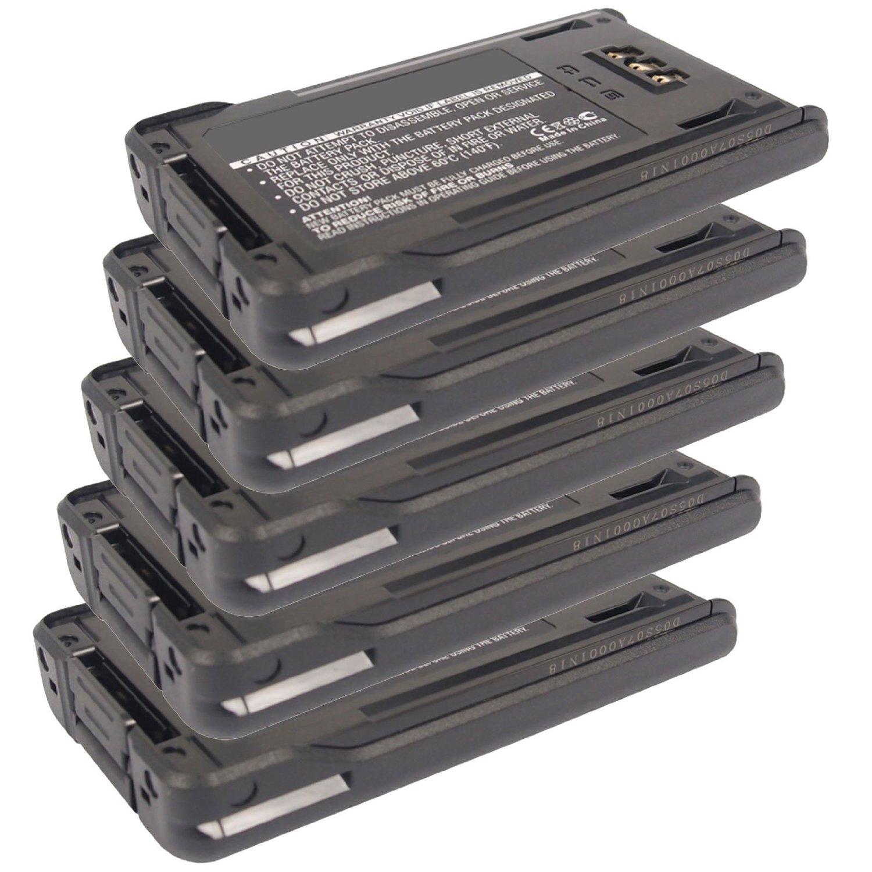 5x Exell 7.4V 1800mAh Li-Ion FRS 2way Radio Battery Fits Kenwood KNB-48L, KNB47L, NX-200, NX-300, TK-5220, TK-5320, For Handheld, Mobile, Communication, Wireless, Portable, Two Way Walkie Talkie, Ham
