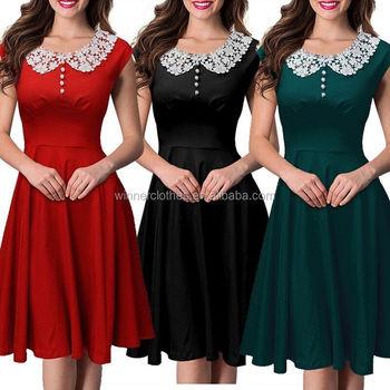 women vintage christmas dress rockabilly clothing 1950s girls party dress - Vintage Christmas Dress