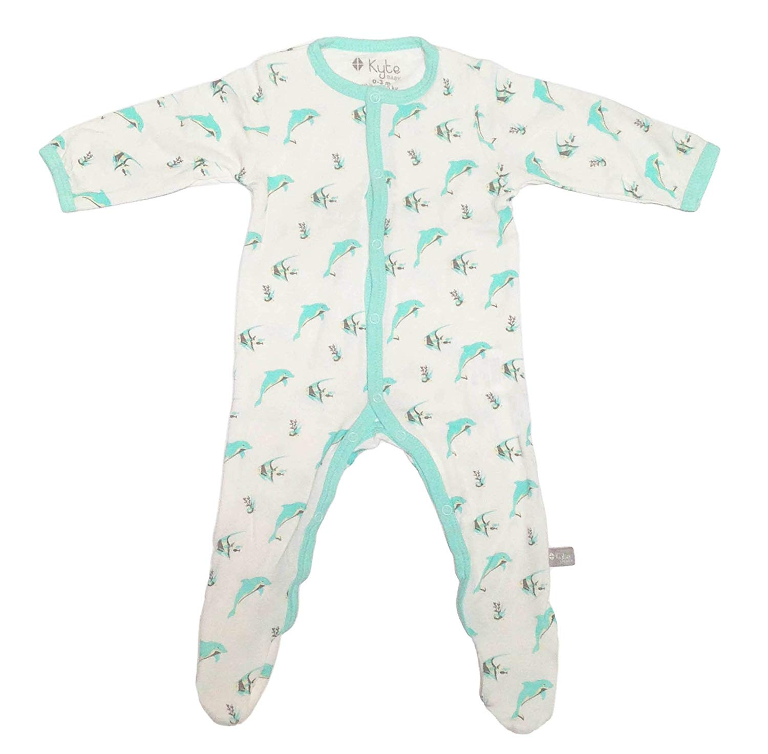 0-24 Months Baby Footed Pajamas Made of Soft Organic Bamboo Material Solid Colors KYTE BABY Footies