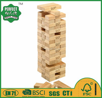 educational wooden tumble tower jenga game of garden toy