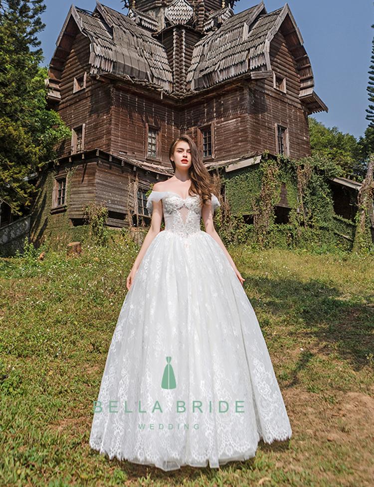 f1cc82ebc0a8fb China hoge klasse vintage off-schouder lace wedding baljurk bridal dress  Guangzhou trouwjurk fabriek nieuwste
