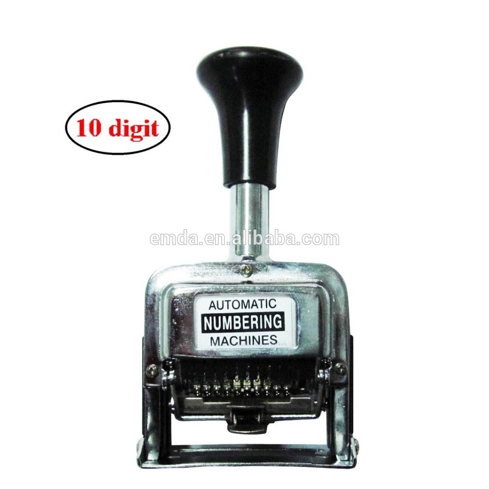 Metal manual 6 digits self inking serial automatic paper numbering machine
