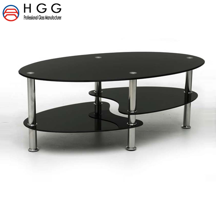 hopsonglass 10mm cut to size black back painted tempered round shape table top <strong>glass</strong> with competitive price