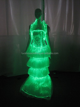 8aa4437d7bc9 Glowing fiber optical fabric traditional thai wedding dress online sale
