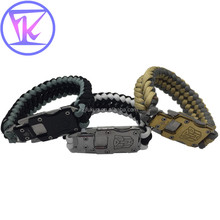 Wholesale Knife Kit Metal Buckle Paracord Bracelet Handmade Survival Sports Bracelet For Camping Hiking