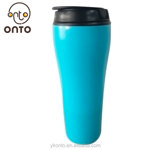 Custom portable 500ML double wall plastic water tumbler