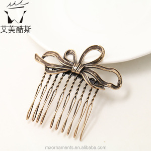 Korean style butterfly shaped alloy hair combs for girl hair accessories