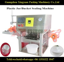 Bucket sealing Machine Bottle sealer/automatic sealing machine customer offer