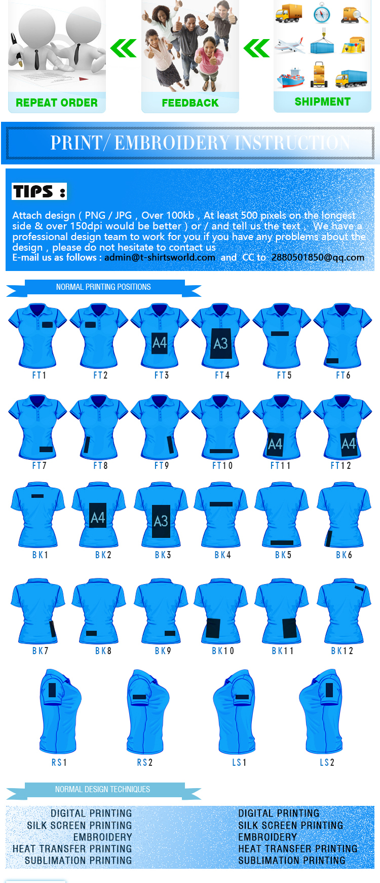 China Wholesale Branded Ladies Blank TC Bulk Polo Shirts Design By You Own