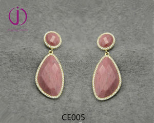 Chinese Wholesale cheap jewellery 925 sterling silver gemstone earring
