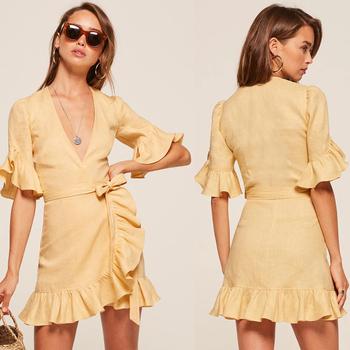 linnen jurk kleding