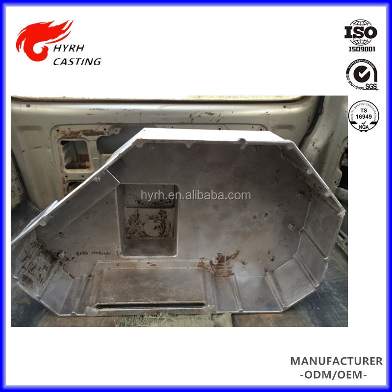 Aluminum alloy a356 t6 best price sand casting water treatment equipment spare parts with t6 heat treatment